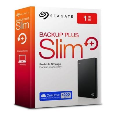 "SEAGATE HDD BUP 1TB USB 3.0 HARDDISK EXT 2.5"" BACKUP PLUS SLIM"