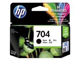Tinta HP 704 Black Cartridge Original Hitam