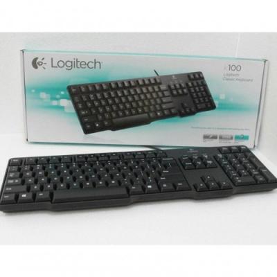 Keyboard Logitech Hitam K100 PS2 Original