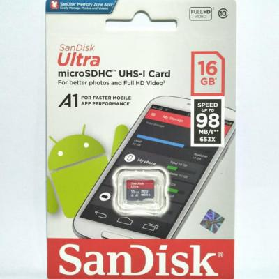 MicroSD Sandisk 16GB Class 10 98Mbps Micro SD UHS-1 Non Adaptor