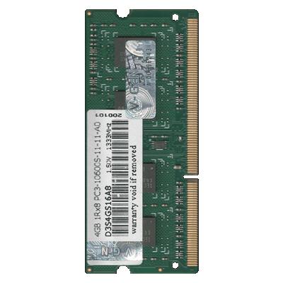 Sodimm V-GEN DDR3 4GB PC/PC3L 10600 / 12800 VGEN Tipe Platinum V