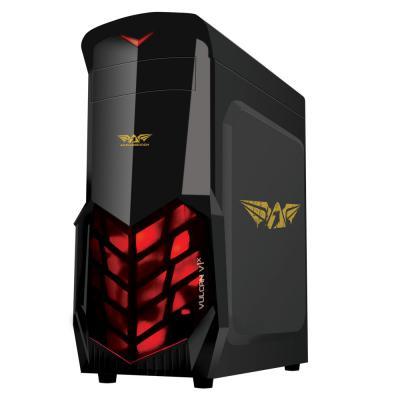Armaggeddon Casing Vulcan V1 X Black Hitam Gaming Case V1X + Fan