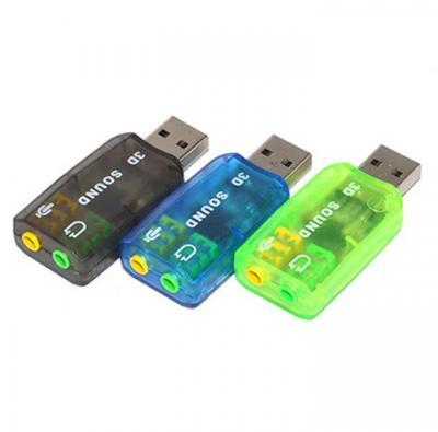 USB Sound Card 3D Adapter 5.1 Channel External Soundcard Audio