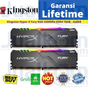 Ram Kingston DDR4 16GB (2x8GB) PC3200 Hyper X Fury RGB