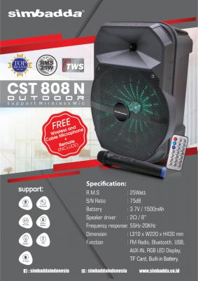 Speaker Portable Simbadda CST 808N Bluetooth