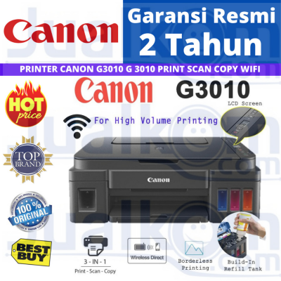 Canon PIXMA G3010 Print Scan Copy Wifi G 3010 All In One G-3010