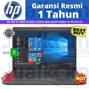 """HP 245 G7 AMD RYZEN 3 3250U 4GB 256GB NVMe 14"""" HD W10"""